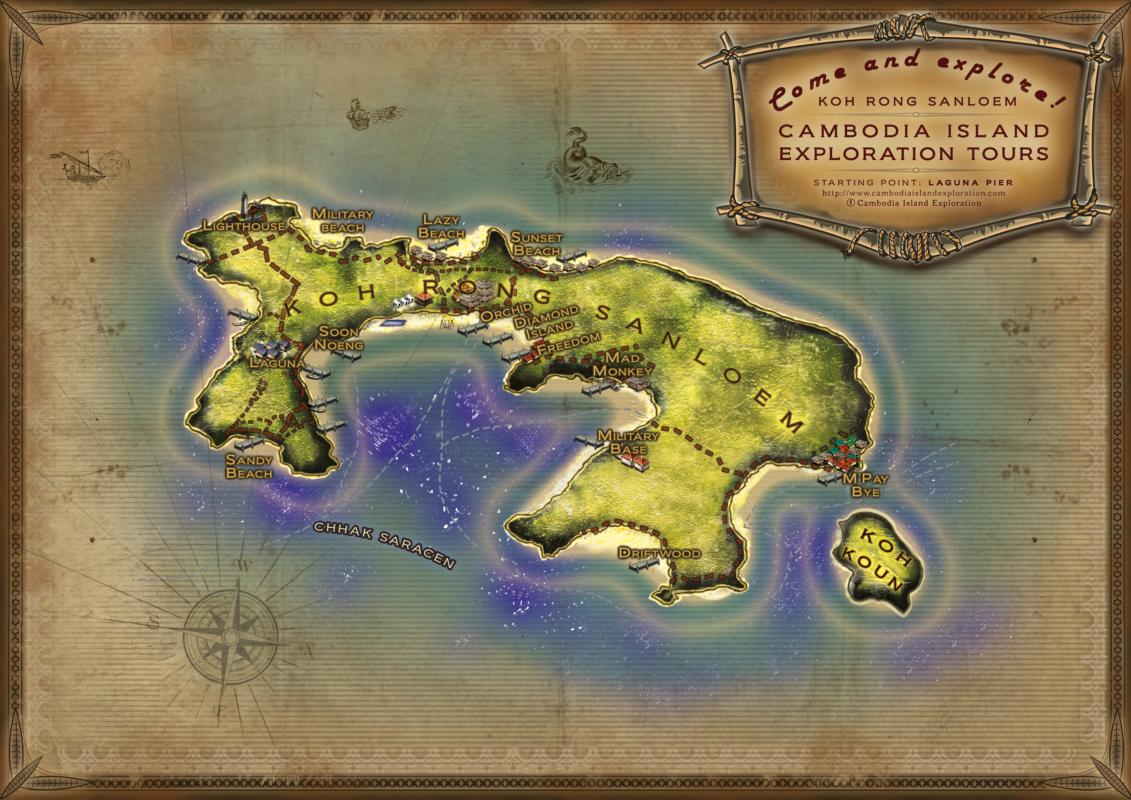 Koh Rong Sanloem Map