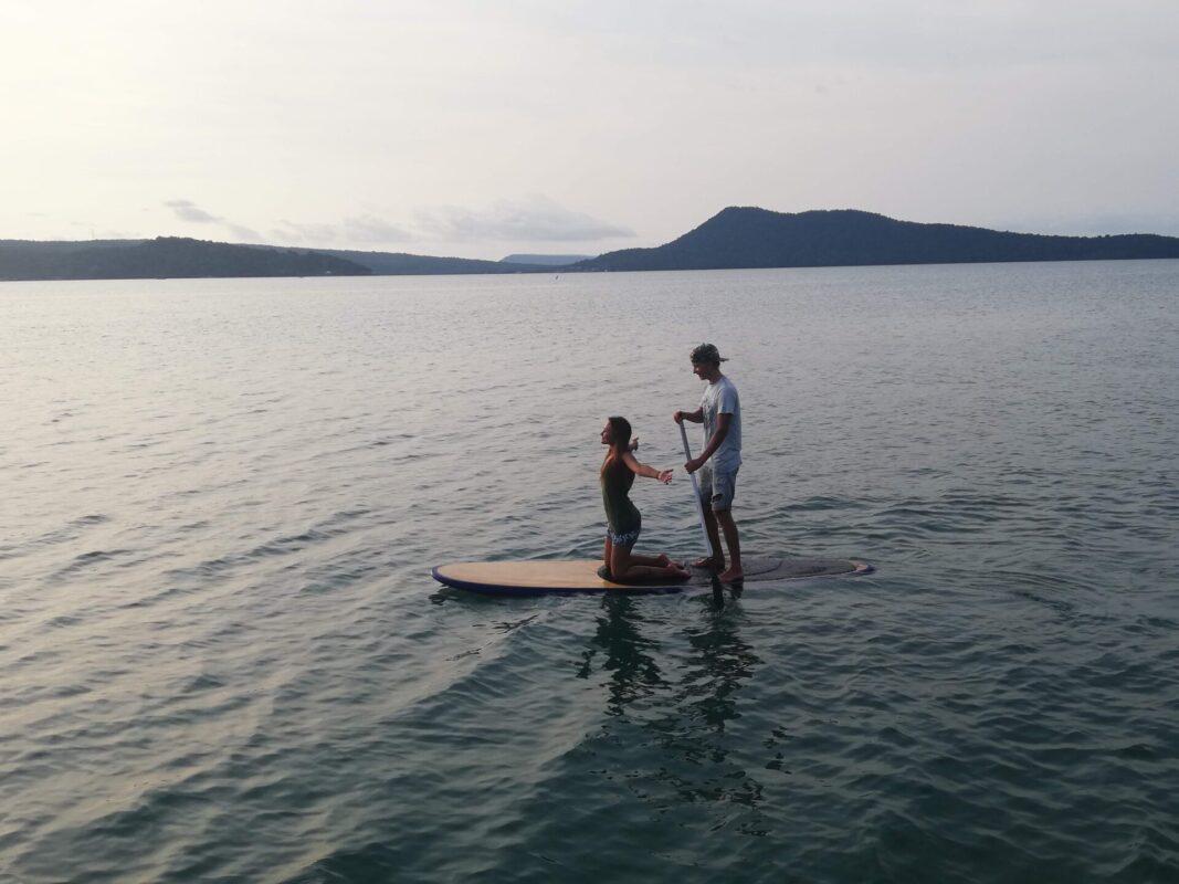 Surfboarding in Saracen Bay